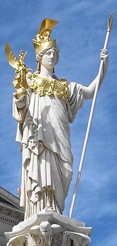La diosa griega Atenea