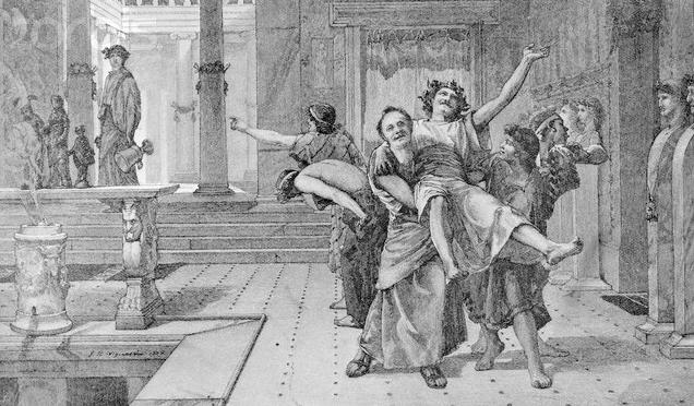 las Saturnalia en la Antigua Roma